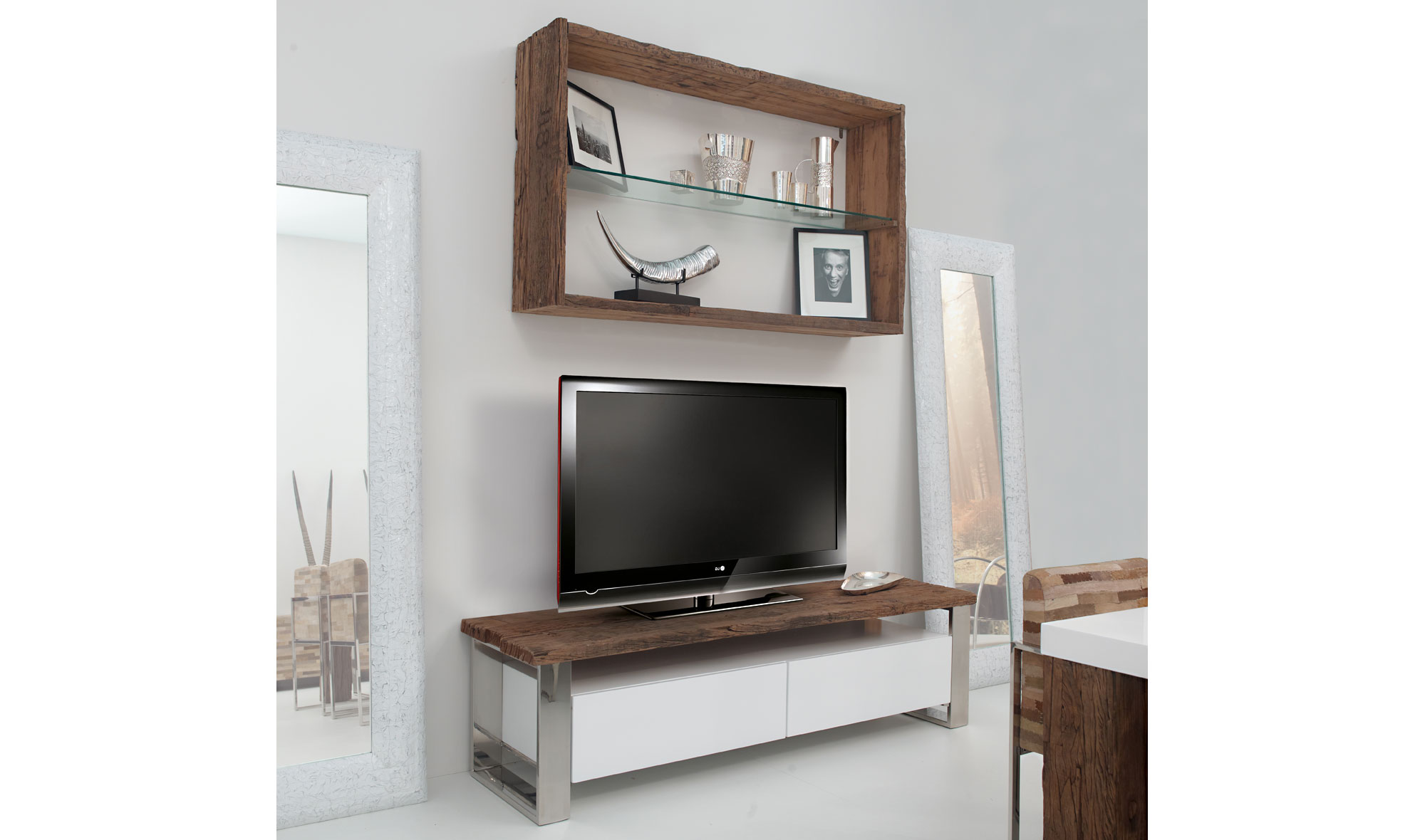 Mueble tv moderno seducti en for Mueble tv moderno