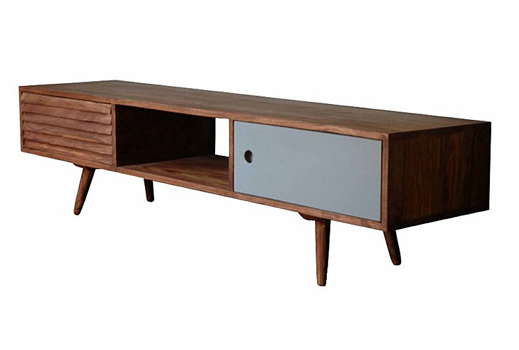 Mueble tv vintage gris jeyo no disponible en for Mueble tv vintage