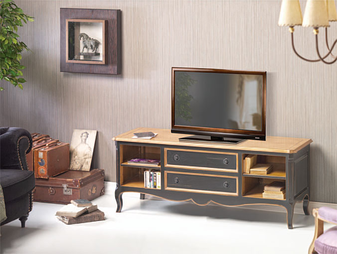 Mueble tv vintage kalonice en for Mueble tv vintage