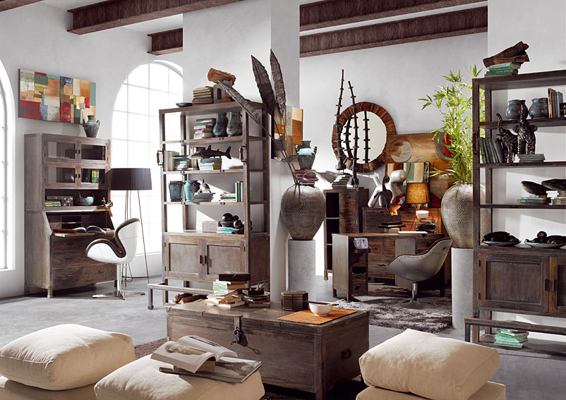 Salon vintage industrial no disponible en - Muebles vintage industrial ...