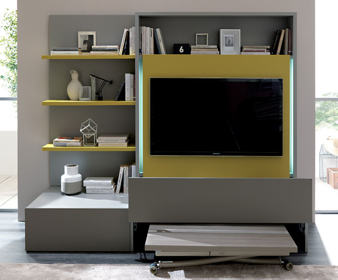 Mueble tv moderno smart de lujo en for Mueble tv moderno