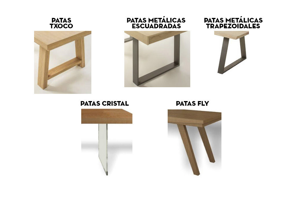 Mesa de comedor madera maciza roble Juli de lujo en Portobellodeluxe ...