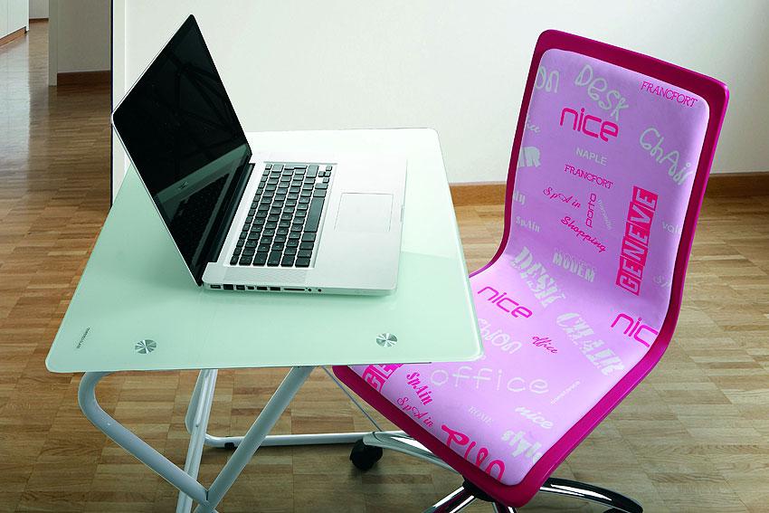 Silla escritorio desk rosa en cosas de arquitectoscosas de for Silla escritorio rosa