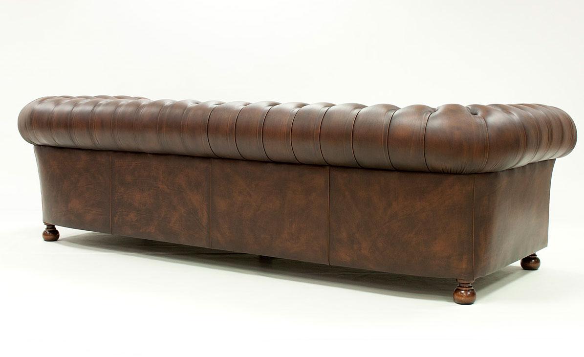 Sof chesterfield loor piel envejecida en portobellodeluxe - Sofa cama chesterfield ...