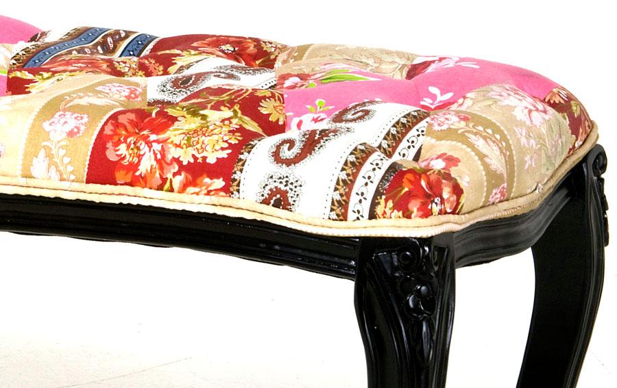 Banco vintage patchwork opulent en for Muebles eroticos