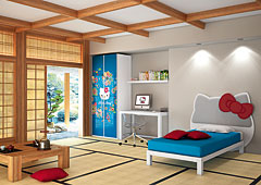 Dormitorio Hello Kitty Oriental