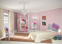 Dormitorio Hello Kitty Romantica