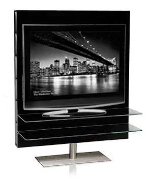 Mueble de tv lacado negro for Mueble tv lacado