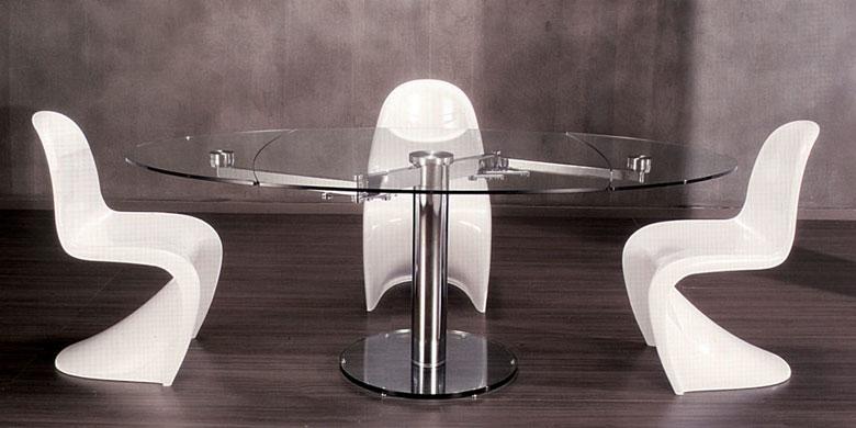 Vuestras mesas de comedor redondas decorar tu casa es - Mesas ovaladas extensibles ...