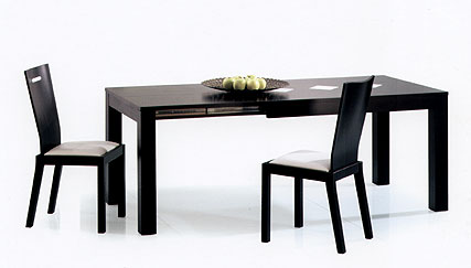 Mesa comedor extensible negra black dining table for Mesa de comedor negra