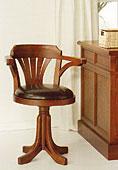 Sillón Despacho Thonet  - Sillones de Despacho Coloniales y Rústicos - Muebles Coloniales y Muebles Rústicos