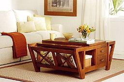 Mesa Centro Con Revistero - Mesas de Centro Coloniales - Muebles Coloniales y Muebles Rústicos