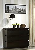 Cómoda Belagio Negra  - Cómodas de Diseño - Muebles de Diseño