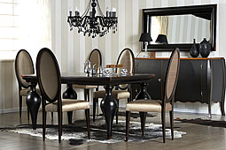 Pack Comedor Colonial Negro Riviera