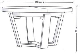 Mesa comedor belagio extensible - Altura de una mesa de comedor ...