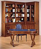 Mesa de escritorio oval cameron clásico
