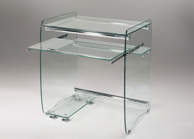 Mueble ordenador cristal no disponible en for Mesa ordenador cristal