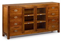 Aparador 2 puertas 8 cajones 2 estantes - Aparadores Coloniales y Rústicos - Muebles Coloniales y Muebles Rústicos