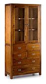 Vitrina 2 puertas 2 4 cajones - Vitrinas Coloniales y Rústicas - Muebles Coloniales y Muebles Rústicos