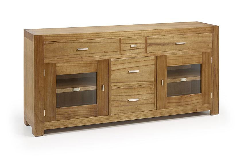 Aparador colonial de madera natural en - Muebles rusticos modernos madera ...
