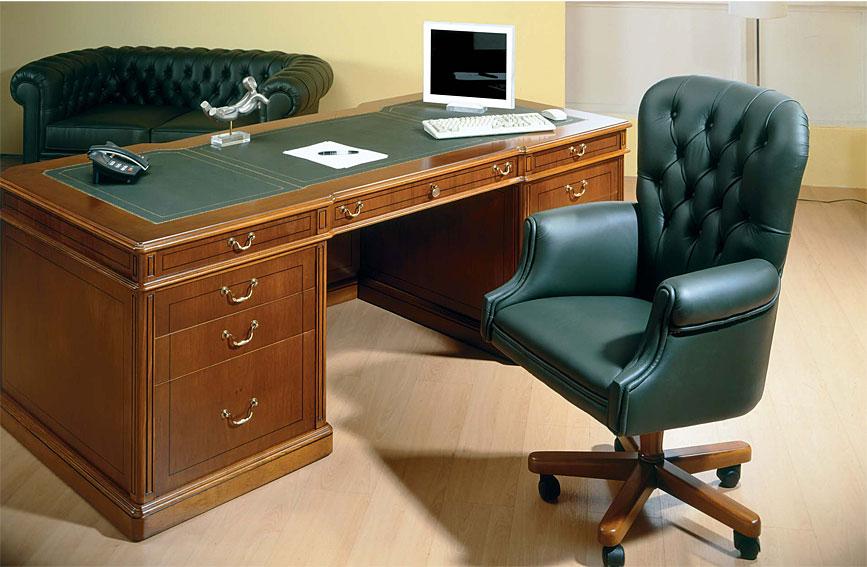 Mesa de escritorio cl sica burton en cosas de for Muebles escritorios clasicos