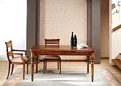 Mesa de Comedor clásica extensible de alas