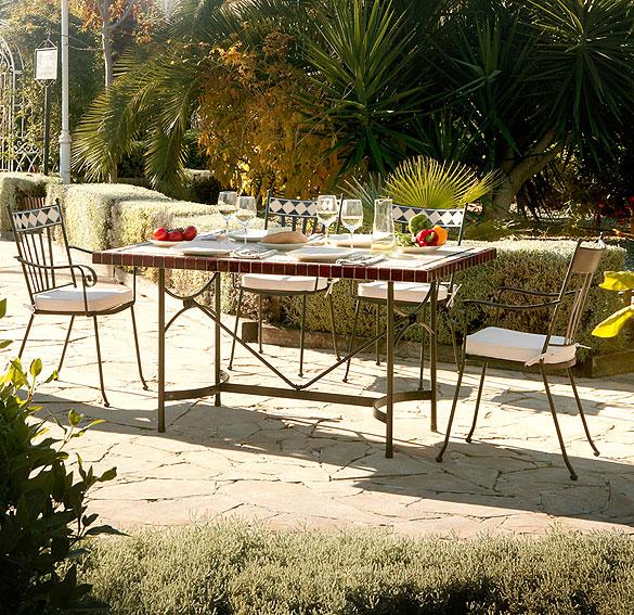 Mesa de jardín Terracota