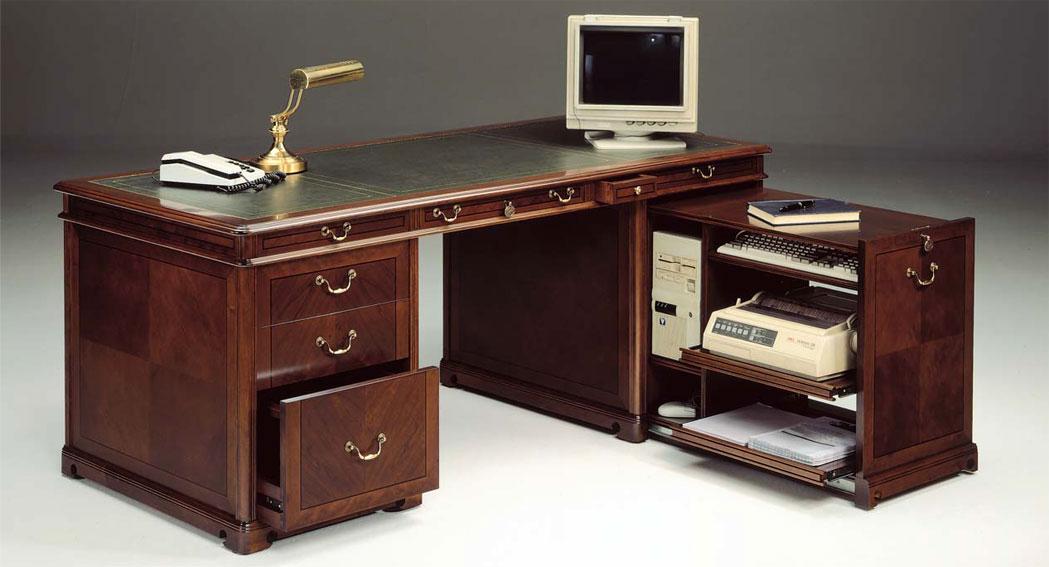 Mesa de escritorio cl sica smith en cosas de - Escritorios rusticos de madera ...