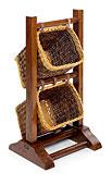 Mueble Auxiliar Combinable 2 cestas - Muebles Auxiliares Coloniales - Muebles Coloniales y Muebles Rústicos