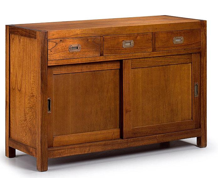 Aparador colonial star 3 cajones de lujo en for Portobello muebles coloniales