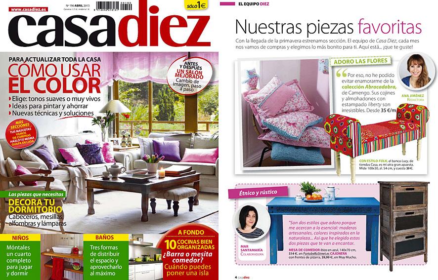 En revista casadiez abril 2013 - Casa diez recibidores ...