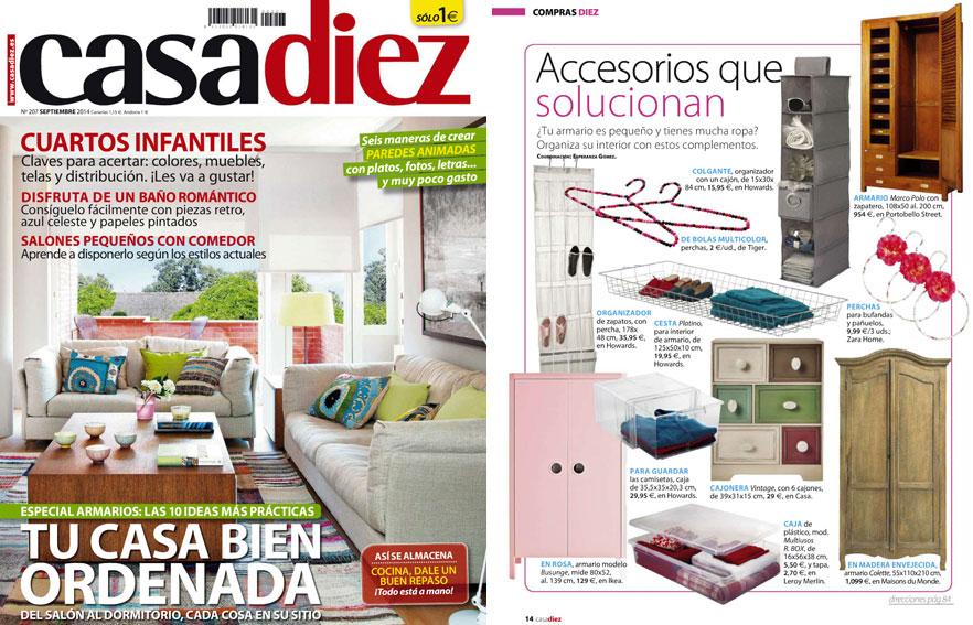 En revista casadiez septiembre 2014 - Casa diez recibidores ...