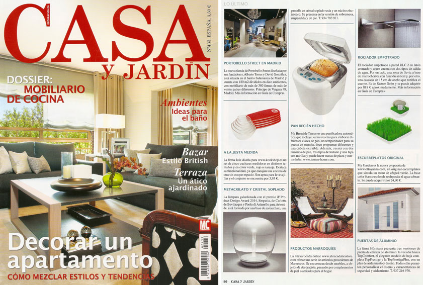 En revista casa y jard n abril 2014 for Casa y jardin revista pdf