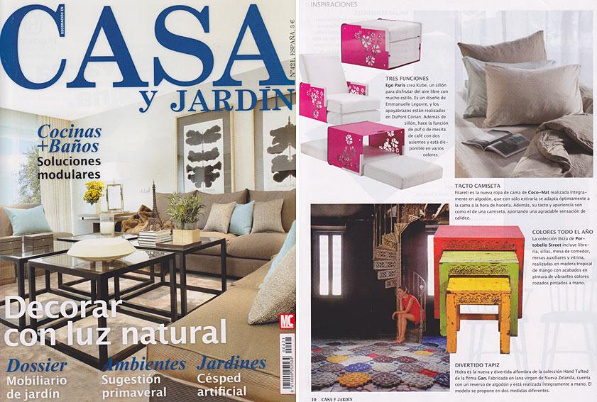 En revista casa y jard n abril 2013 for Casa y jardin revista