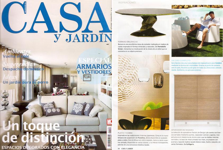En revista casa y jard n septiembre for Casa y jardin revista