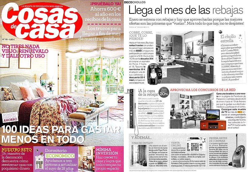 En revista cosas de casa enero 2012 - Outlet cosas de casa ...