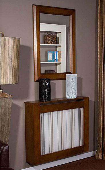Cubrerradiador tapizado visillo no disponible en for Visillos para salon rustico