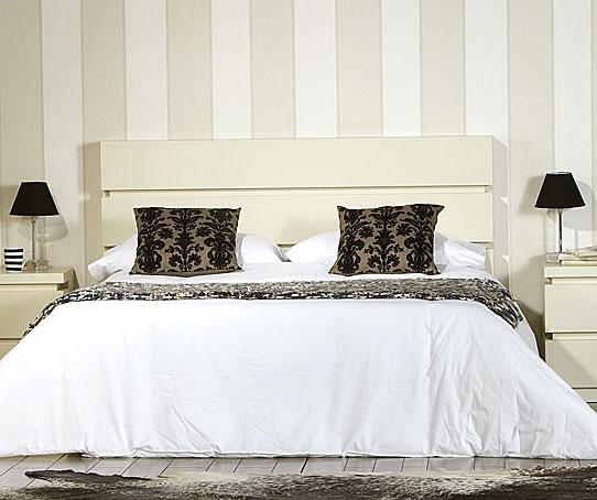Cabecero moderno belagio blanco roto en - Cabeceros de cama blancos ...