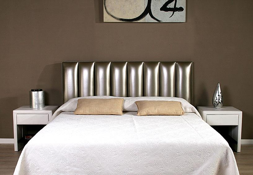 Cabecero piel mercury plata no disponible en - Cabeceros de cama tapizados en piel ...
