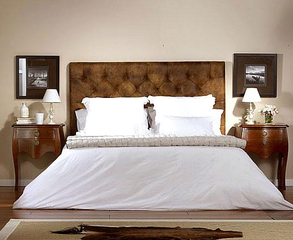 Cabecero vintage tapizado capitone no disponible en - Cabeceros de cama tapizados en piel ...