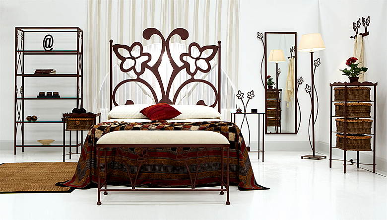 Dormitorio de forja sandra en for Muebles forja