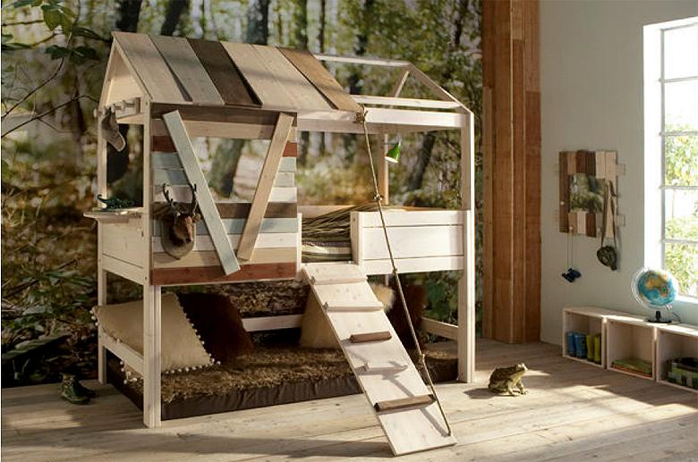 Muebles Martin Peñasco Interiorismo:  Cama Infantil Árbol Litera - Camas Infantiles y Literas Infantiles - Muebles Infantiles
