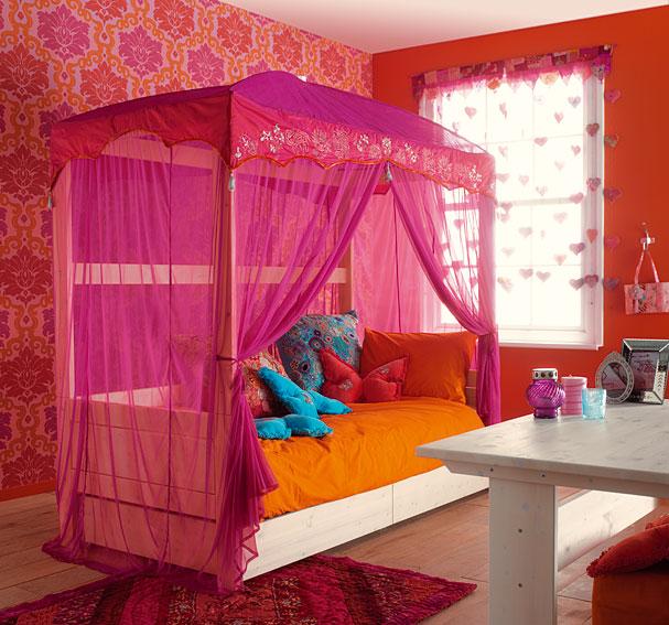 Cama Jaipur con Dosel y Cama Nido no disponible en Portobellostreet.es
