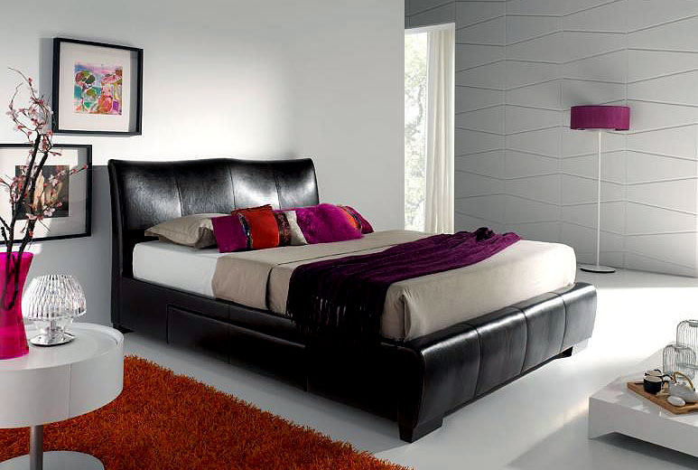 Cama Piel Maldives cajones laterales no disponible en ...