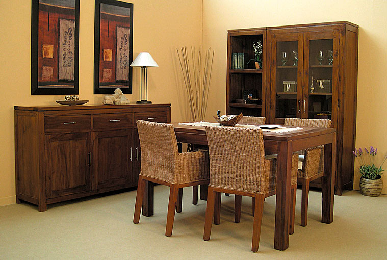 Comedor colonial 4 no disponible en for Decoracion mueble comedor