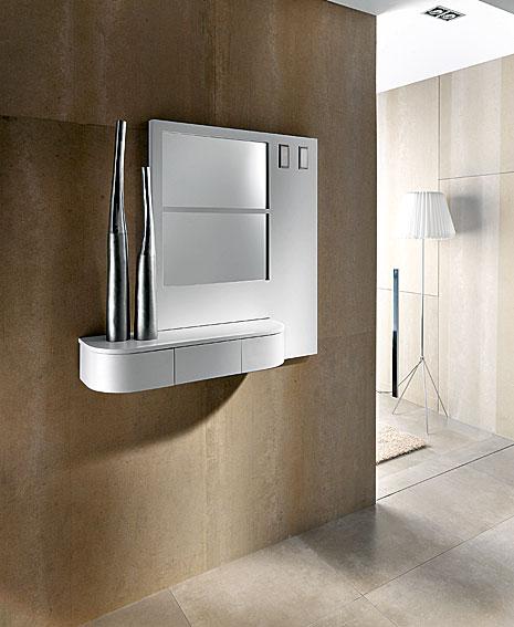 Consola con espejo hook en for Espejos para consolas