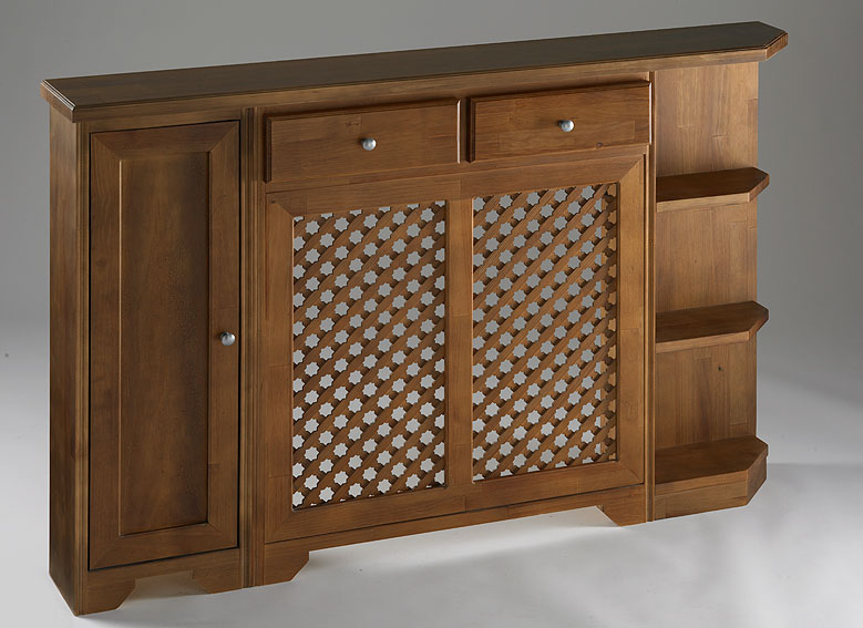 Cubre radiador atlanta en for Muebles de entrada rusticos
