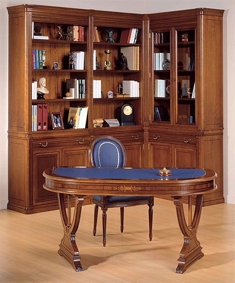 Despacho clasico oval cameron en - Muebles despacho clasico ...