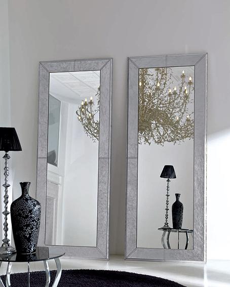 Espejo plata dylan en for Espejos con marco plateado