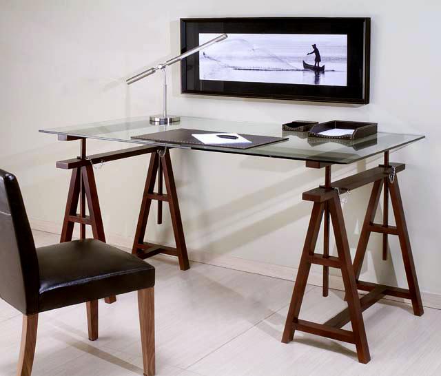 Escritorio calamus bases y cristal incluidos no - Mesas escritorio de cristal ...